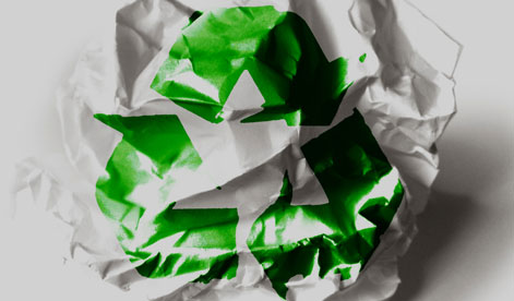 Recycle Symbol on Paper