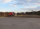 Images from the Indiana Ave green waste fire.