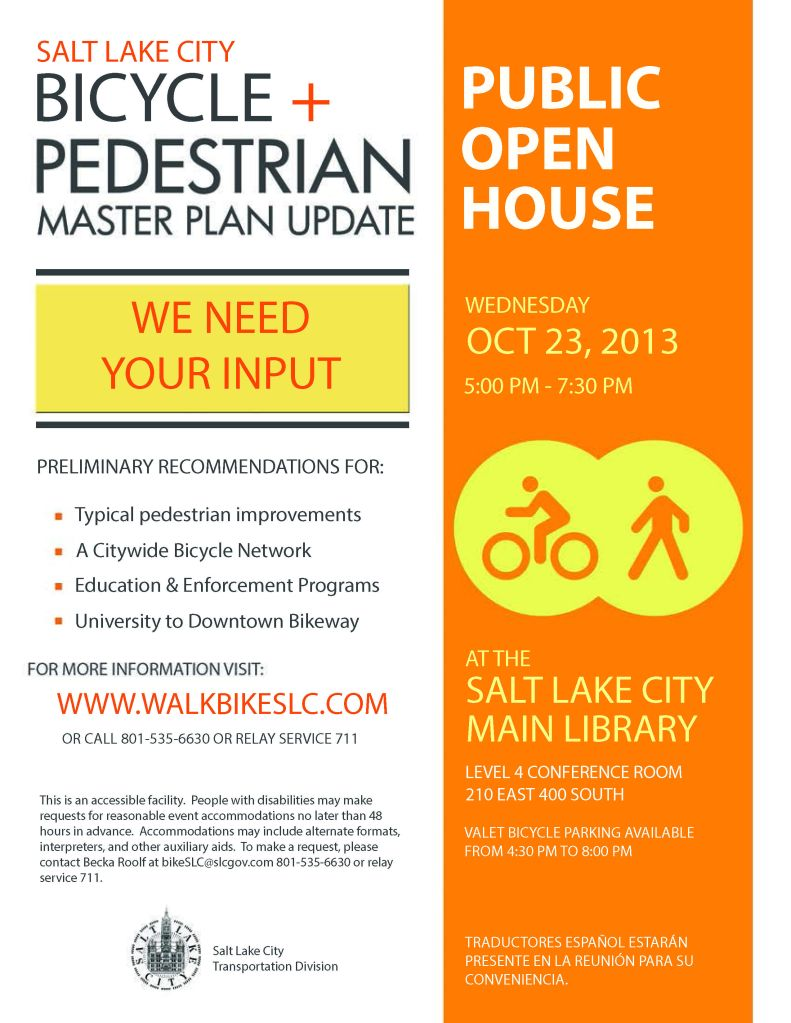 Bike Ped Open House Flyer_October17
