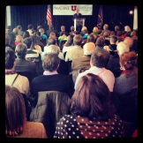 Mayor Ralph Becker addresses the crowd of Salt Lake City residents, students and stakeholders.