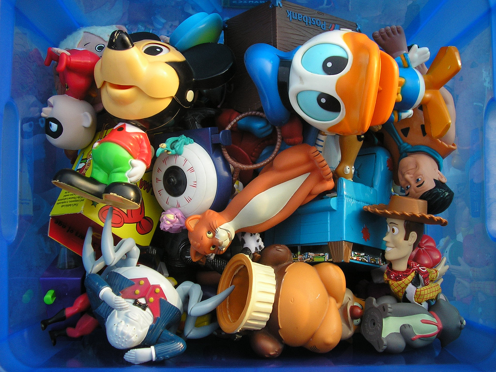 Donate old toys to a local charity. Photo credit: David Zellaby via Flickr.