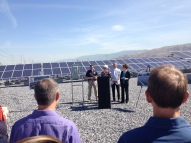 Sustainability Director Vicki Bennett talks about the City's first solar farm.