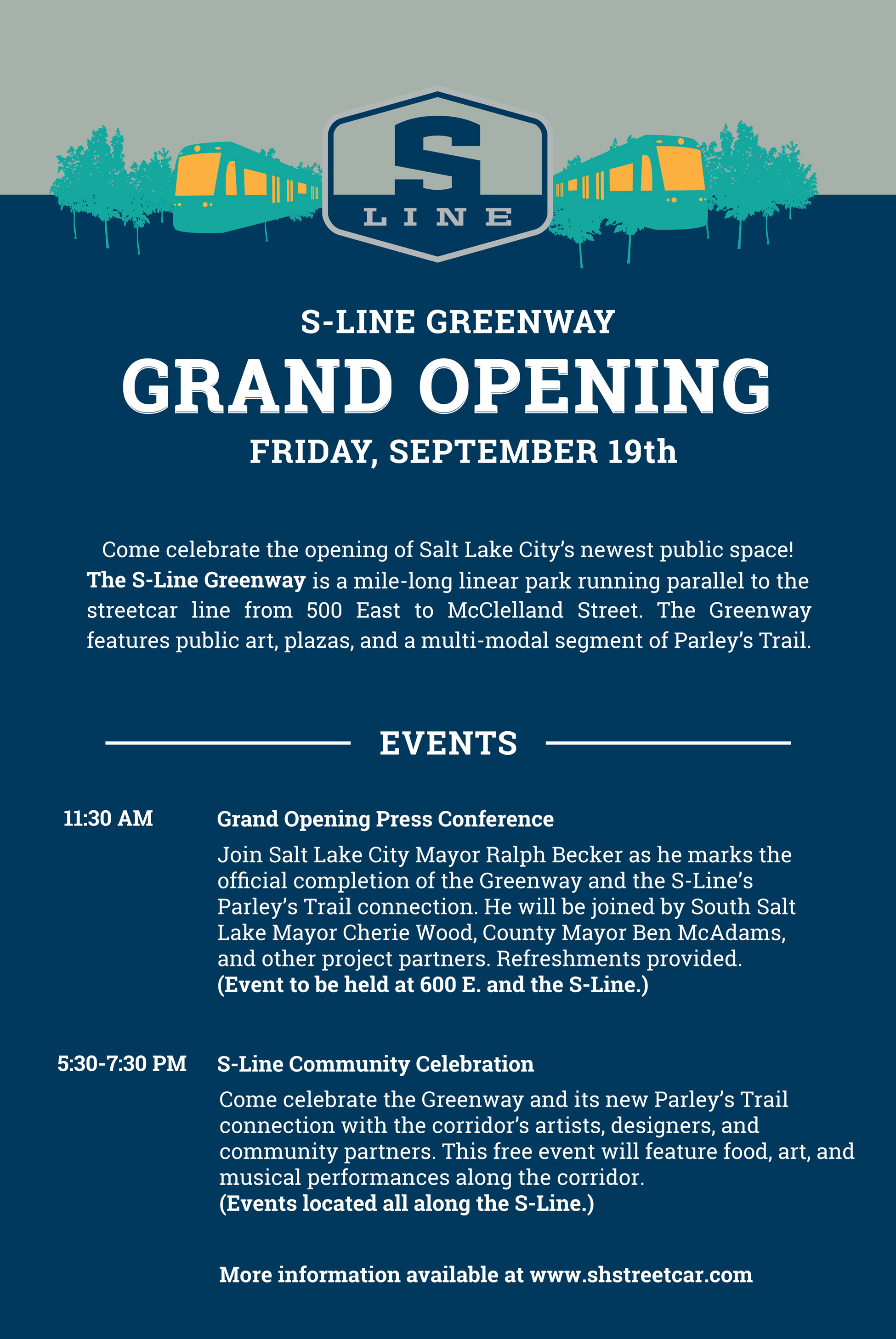 Celebrate The S Line Greenway Grand Opening On Sept 19