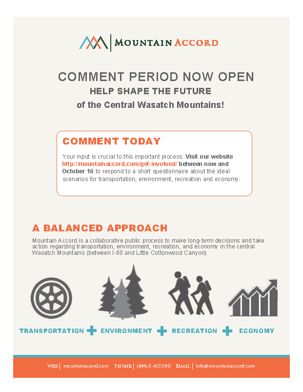 Mountain Accord Public Comment Period Opens!