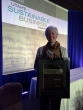 Sustainability Director Vicki Bennett with her Sustainable Business Leadership Award.