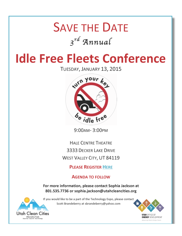 2015 Idle Free Conference Save the Date FINAL