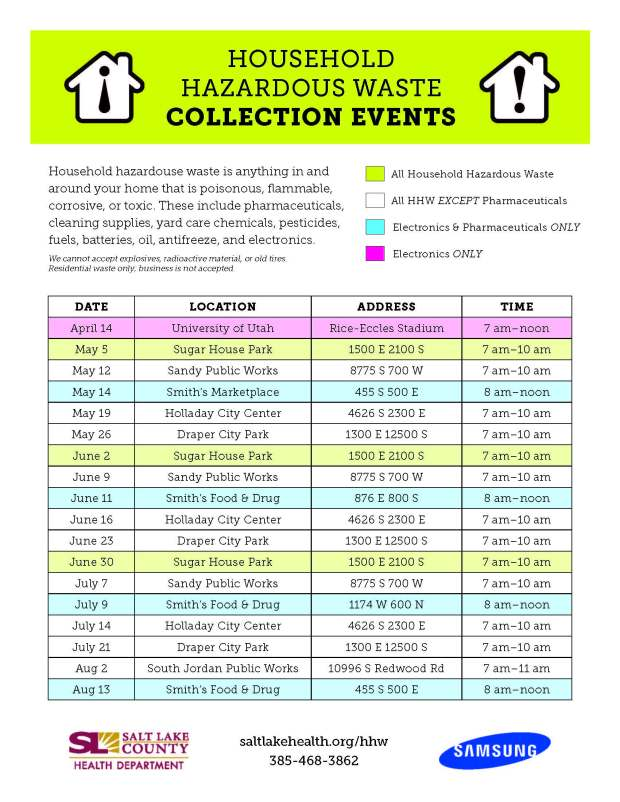 HHW Collection Flyer 2016