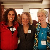 Mayor Biskuspki with Sustainability Director Vicki Bennet and Johanna Stangland