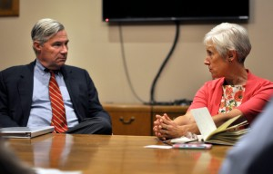 Sen. Whitehouse talks with Salt Lake City Sustainability Director Vicki Bennett