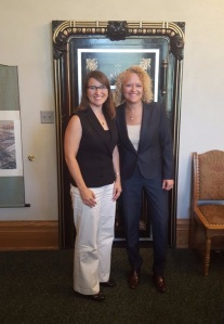 Mayor Biskupski meets with Heidi Gerbracht, Bright Cities National Program Director.