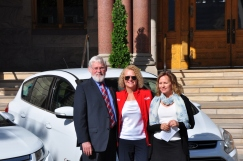 University of Utah President David Pershing, Mayor J. Biskupski, and Utah Clean Energy Executive Director Sarah Wright
