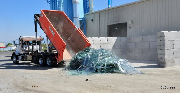 Drop off of glass before processing. Photo credit: Kyle Strayer