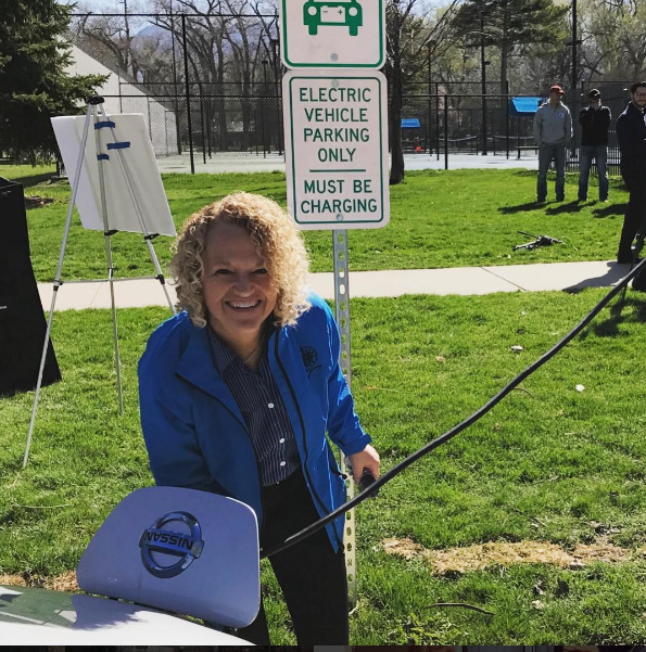 Mayor Biskupski Liberty EV