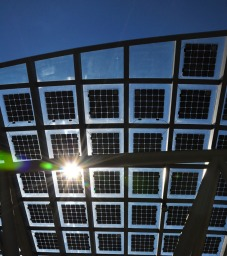 Solar panels on the Public Safety Building