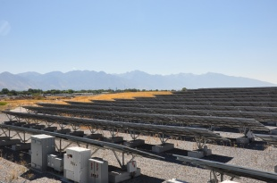 Salt Lake City's 1 MW solar farm.