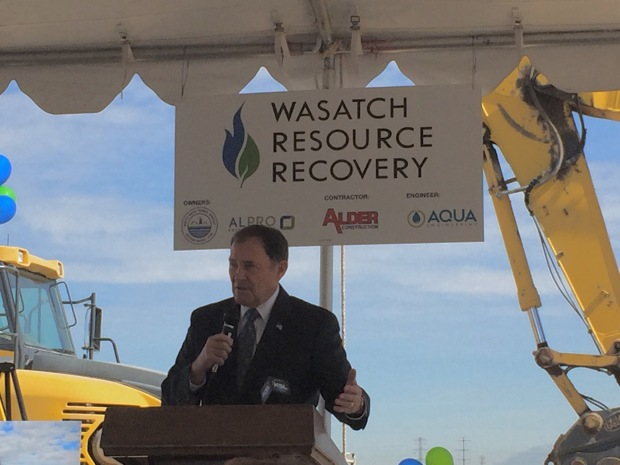 Gov Herbert Wasatch Resource Recovery Groundbreaking