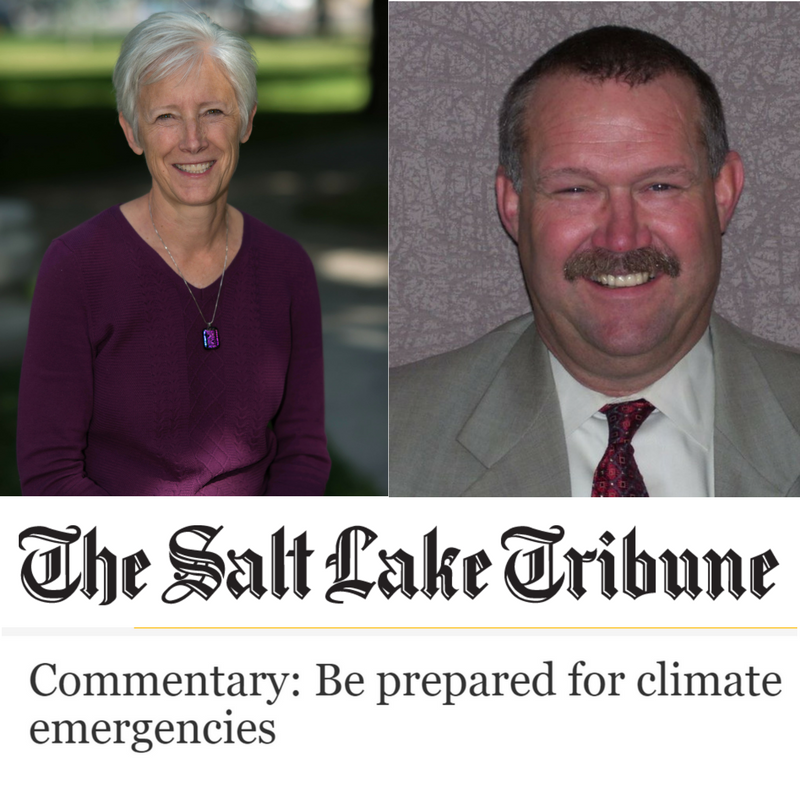 Salt Lake City's Sustainability Director Vicki Bennett and Emergency Management Director Cory Lyman pen a joint op-ed in the Salt Lake Tribune on climate change and emergency preparedness.