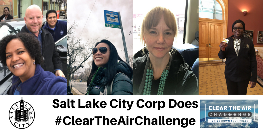 SLC Corp Employees doing #ClearTheAirChallenge