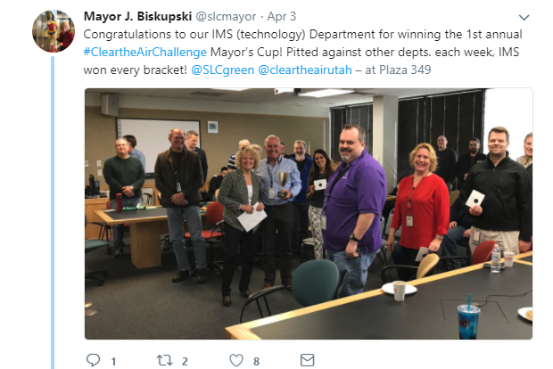 Mayor Biskupski IMS CTAC Tweet