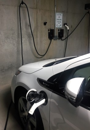 Chevy Volt charging at Project Open