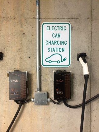 Electric car charging staion at Project Open