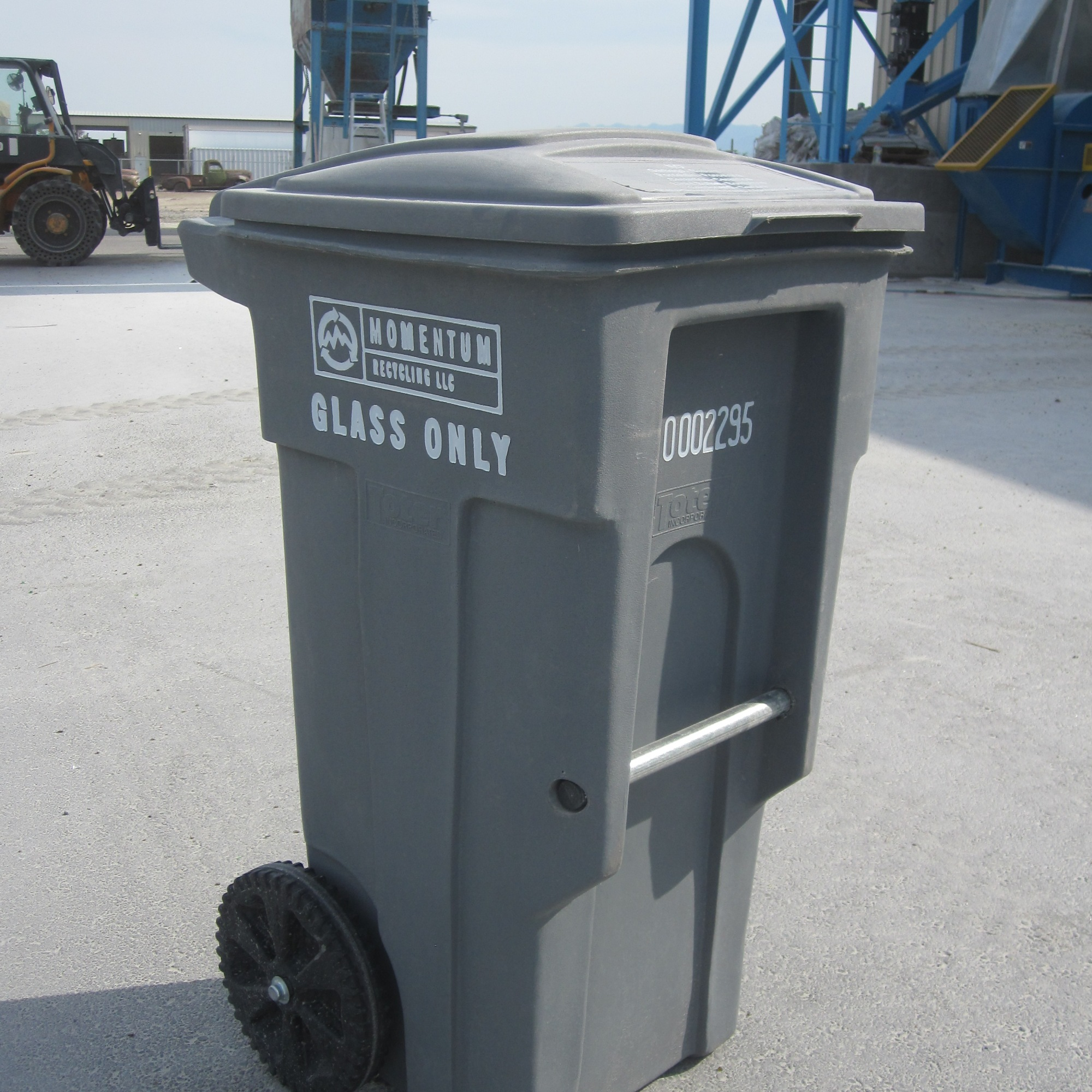 Momentum Recycling curbside glass bin.