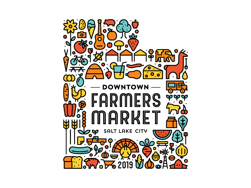 Downtown Farmers Market 2019 Poster