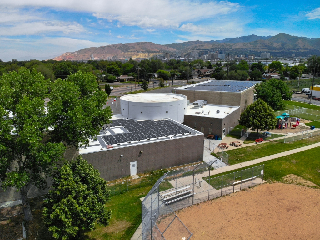Photo of Sorenson Campus from above.