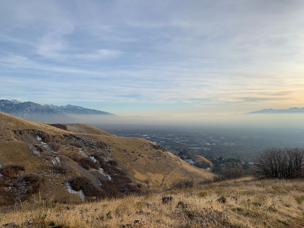 Photo of inversion in Salt Lake valley.
