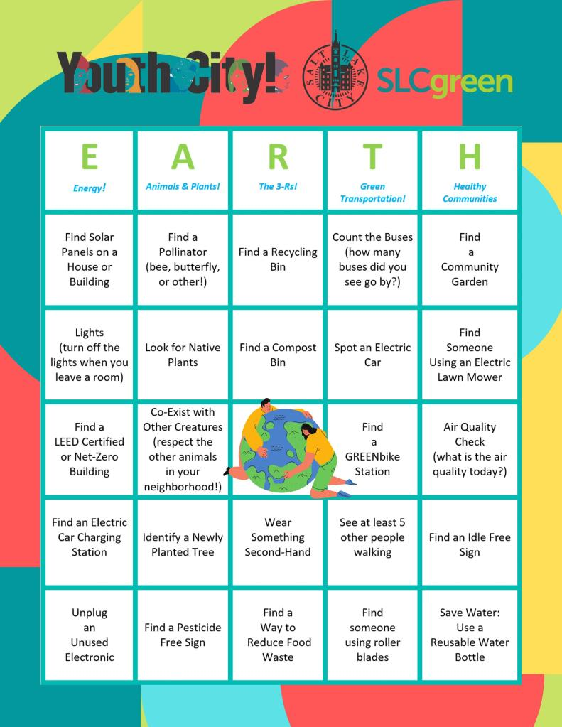 Earth Day Scavenger Hunt Bingo Card